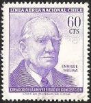 Sellos de America - Chile -  RECTOR UNIVERSIDAD DE CONCEPCION - ENRIQUE MOLINA