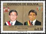 Sellos del Mundo : America : Bolivia : ENTREVISTA PRESIDENCIAL PERU Y BOLIVIA