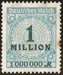 Sellos del Mundo : Europa : Alemania : DEUTSCHES REICH - IMPERIO ALEMAN -  1 MILLION