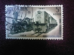 Sellos del Mundo : America : Colombia : Vapor 1854 y Locomotora Diesel 1961 - Ferrocarril del Atlántico-1961
