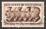Sellos del Mundo : Africa : Sudáfrica : 50 anivº de la unión sudafricana