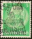 Sellos de Europa - Alemania -  IMPERIO ALEMAN - MEDALLON  PAUL VON HINDENBURG