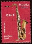 Sellos del Mundo : Europa : España : Saxófono tenor