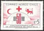 Sellos del Mundo : America : Chile :  CINCUENTENARIO LIGA DE SOCIEDADES DE CRUZ ROJA