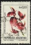 Sellos del Mundo : America : Argentina : Flor de Ceibo. Erythrina crista - galli.