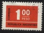 Sellos del Mundo : America : Argentina : Sello cifra.