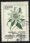 Sellos del Mundo : America : Argentina : Flor de Pasionaria ( Mburucuyá ). Passiflora coerulea.