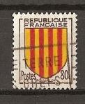 Sellos de Europa - Francia -  Escudos / Rosellon.