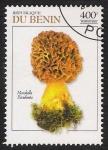 Sellos del Mundo : Africa : Benin : SETAS-HONGOS: 1.114.045,00-Murchella sculenta