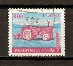 Sellos de Asia - Pakistán -  Serie Basica./ Tractor.