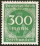 Sellos de Europa - Alemania -  DEUTSCHES REICH - DREI HUNDERT