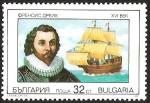 Sellos del Mundo : Europa : Bulgaria : NAVEGANTES - FRANCIS DRAKE
