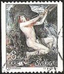 Sellos del Mundo : Europa : Suecia : FIGURA MITOLOGICA