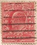 Sellos del Mundo : America : Reino_Unido : postage y revenue One Penny