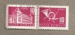 Sellos de Europa - Rumania -  Edificio postal