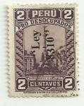Sellos de America - Perú -  Pro desocupados: Monumento 2 de mayo(sello con sobrecarga ley 8310)