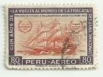 Sellos de America - Perú -  Centenario de la vuelta al mundo de la fragata Amazonas
