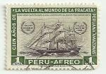 Sellos del Mundo : America : Perú : Centenario de la vuelta al mundo de la fragata Amazonas