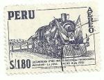 Sellos del Mundo : America : Perú : Locomotora N° 80, inaguración del ferrocarril Matarani