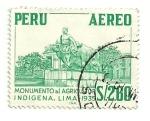 Sellos del Mundo : America : Perú : Monumento al agricultor indigena