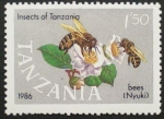 Sellos del Mundo : Africa : Tanzania : insectos de tanzania