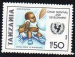 Sellos del Mundo : Africa : Tanzania : Supervivencia y desarrollo infantil