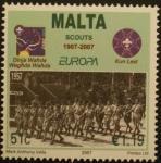 Sellos del Mundo : Europa : Malta : centenario scouts
