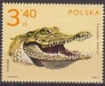 Sellos de Europa - Polonia -  Polonia 1972 Scott 1893 Sello Nuevo Fauna Animales de Zoo Cocodrilo Crocodylus Miloticus Polska