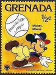 Sellos del Mundo : America : Granada : Grenada 1979 Scott 950 Sello ** Walt Disney Deportes Mickey Mouse Beisbol 1/2c