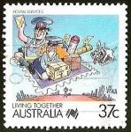 Sellos del Mundo : Oceania : Australia : POSTAL SERVICES - LIVING TOGETHER