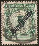 Sellos de Europa - Alemania -  DEUTSCHES REICH - DIENFMARKE SOBRECARGA