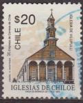Sellos del Mundo : America : Chile :  CHILE 1993 Scott 1053 Sello Iglesias de Chiloe Vilupulli usado 20$