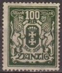 Sellos de Europa - Alemania -  Danzing 1923 Scott 107 Sello * Escudo de Armas c/charnela