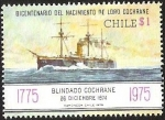 Sellos de America - Chile -  BICENTENARIO DEL NACIMIENTO DE LORD COCHRANE - BLINDADO COCHRANE