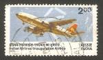 Sellos de Asia - India -  avión airbus A 300 B 2
