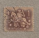 Sellos del Mundo : Oceania : Portugal : Guerrero a caballo