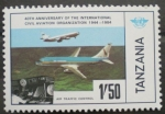 Sellos del Mundo : Africa : Tanzania : 40th anniversary of the international civil aviation organization