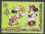 Sellos del Mundo : Africa : Lesotho : 512 - Navidad Disney, dos tórtolas