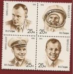 Sellos de Europa - Rusia -  30 Aniversario Primer hombre en el espacio - Yuri Gagarin