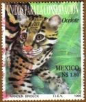 Sellos del Mundo : America : México : Unidos para la conservacion del OCELOTE
