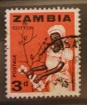 Sellos del Mundo : Africa : Zambia : cotton