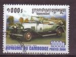 Sellos de Asia - Camboya -  serie- Vehículos antiguos