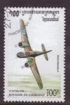 Sellos de Asia - Camboya -  serie- Aviones militares