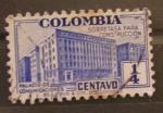 Sellos de America - Colombia -  palacio de comunicaciones -sobre tasa para la construccion-