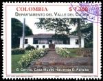 Sellos del Mundo : America : Colombia : EMISIÓN POSTAL DEPARTAMENTOS DE COLOMBIA - VALLE DEL CAUCA - HACIENDA EL PARAÍSO -