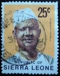 Sellos del Mundo : Africa : Sierra_Leona : Siaka Stevens Probyn (1905-1988)
