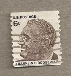 Sellos de America - Estados Unidos -  Franklin Delano Roosvelt