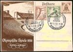 Sellos de Europa - Alemania -  DEUTSCHES REICH - OLYMPISCHE SPIELE BERLIN