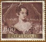 Sellos de Europa - Portugal -  SS.MM. Dª MARIA II