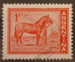 Sellos del Mundo : America : Argentina :  caballo criollo